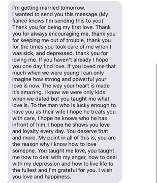 Man Pens Beautiful Text For Ex Before Wedding, Wins Hearts