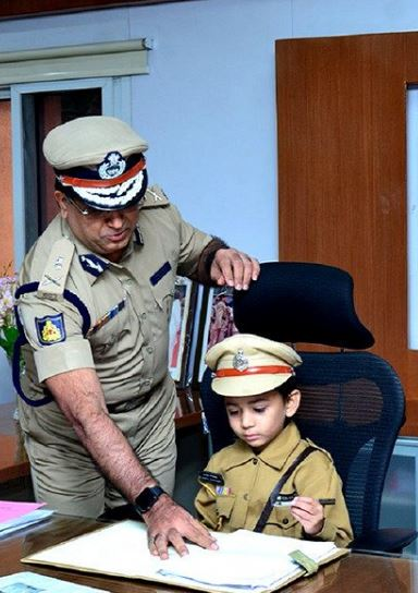 5 Terminally-ill Kids Take Charge As Bengaluru Top Cop For A Day