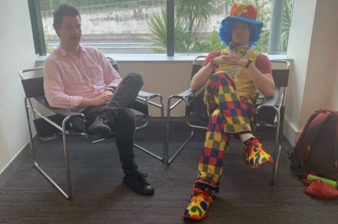 New Zealand man being fired brings clown along for emotional support