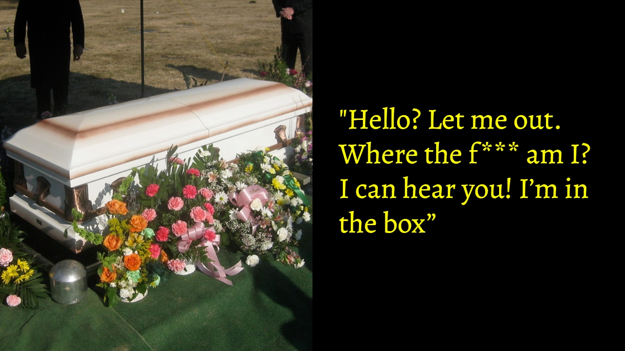 Prankster Grandpa Pulls A Final Prank From His Coffin Leaving Mourners In Splits