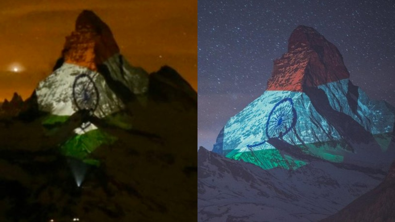 Switzerland Lights Matterhorn Mountain With Indian Tricolour In Solidarity Amid Pandemic