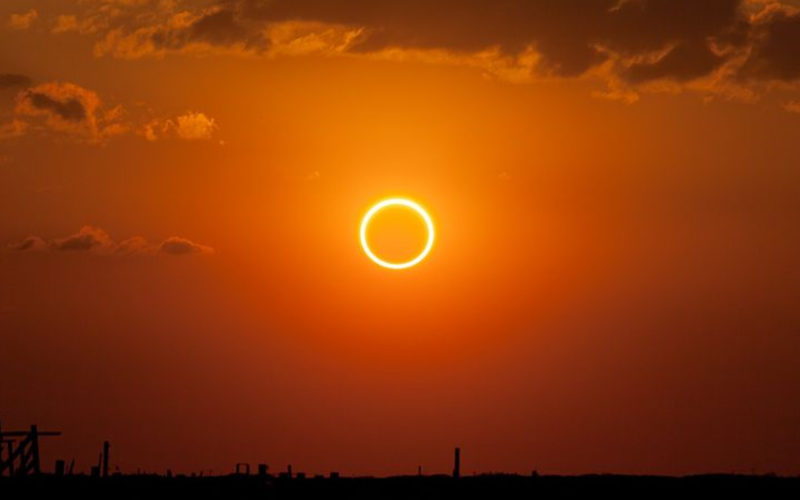 Pictures of Solar Eclipse from different parts of India