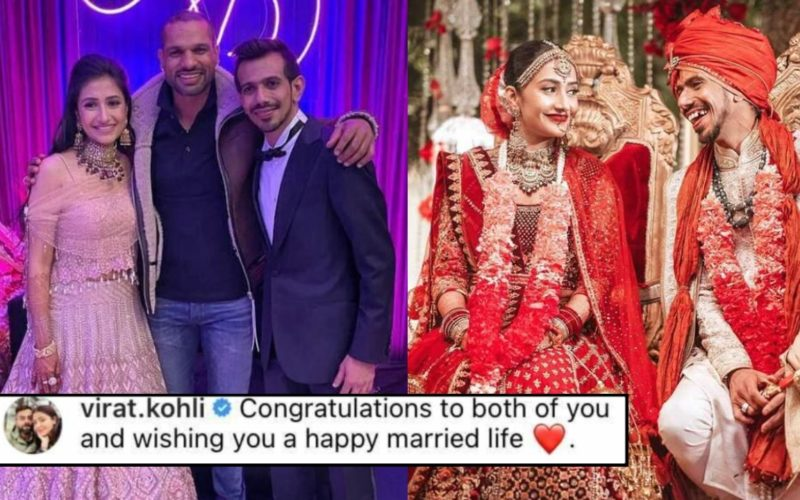 Rohit Sharma, Suresh Raina and others congratulate newlyweds Yuzvendra Chahal & Dhanashree Verma
