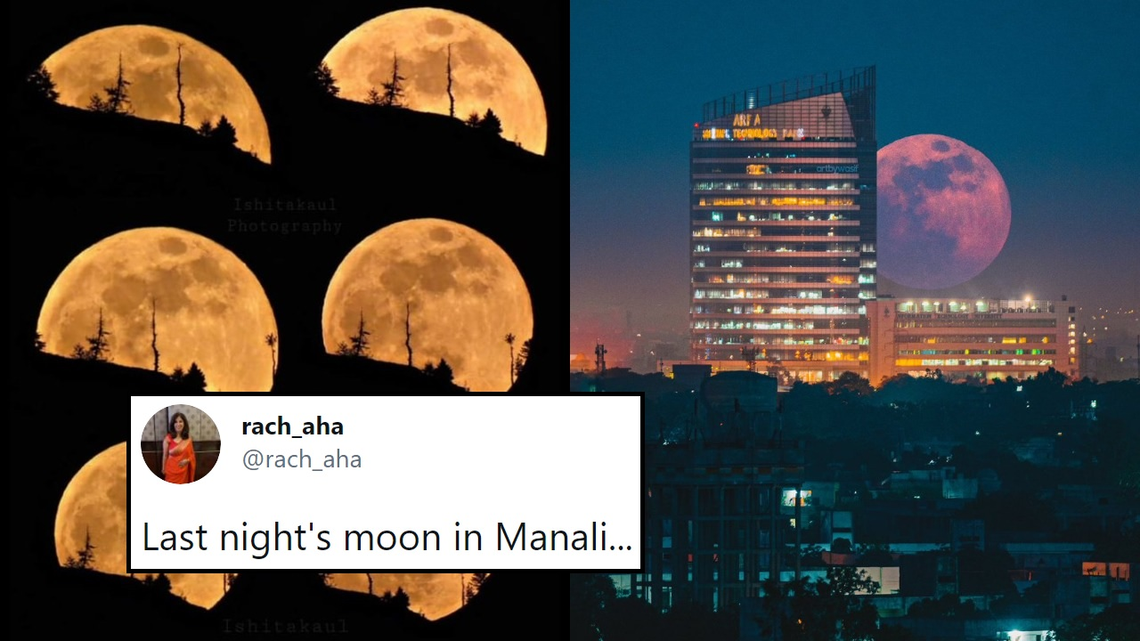 Desis Share Stunning Visuals Of Last Night's 'Blood Moon', See Pics